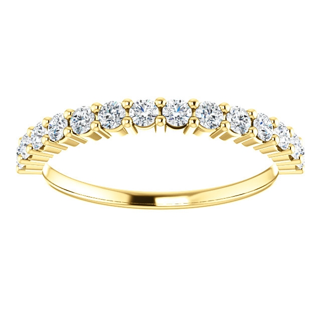 Item # SR128555050 View 3 - 14K Gold Anniversary Band. 0.50CT