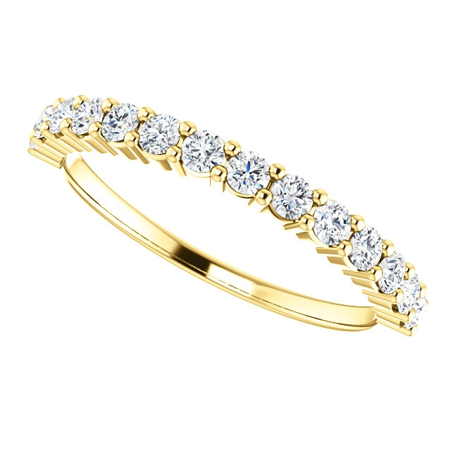 Item # SR128555050 View 5 - 14K Gold Anniversary Band. 0.50CT