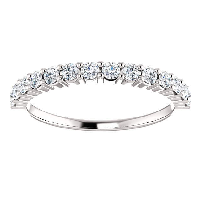 Item # SR128555050WE View 3 - 18K White Gold Anniversary Ring. 0.50CT