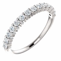 Item # SR128555050W - 14K White Gold Anniversary Band. 0.50CT