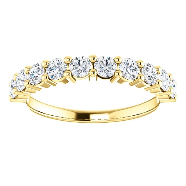 Item # SR128555075E View 3 - 18K Gold Anniversary Ring. 0.75CT