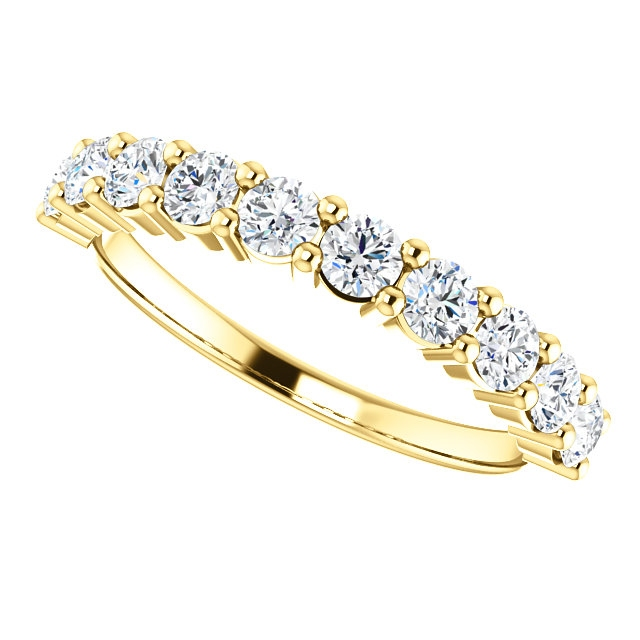 Item # SR128555075E View 5 - 18K Gold Anniversary Ring. 0.75CT