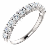 Item # SR128555075WE - 18K White Gold Anniversary Band. 0.75CT