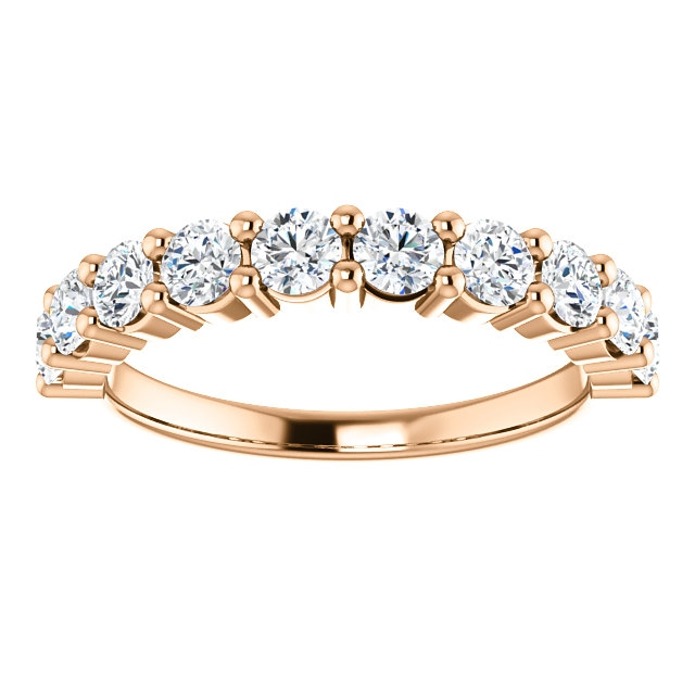 Item # SR128555100R View 3 - 14K Rose Gold Anniversary Band. 1.00CT
