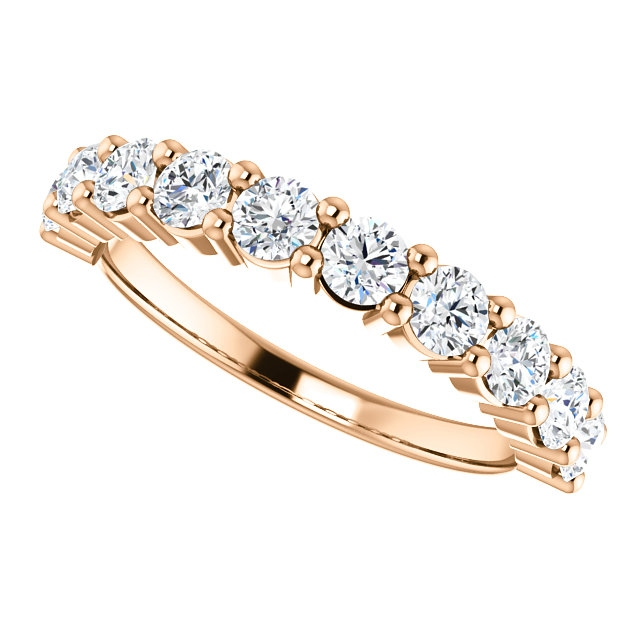 Item # SR128555100R View 5 - 14K Rose Gold Anniversary Band. 1.00CT