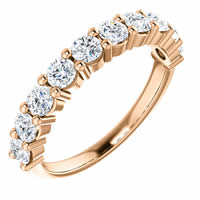 Item # SR128555100R - 14K Rose Gold Anniversary Band. 1.00CT