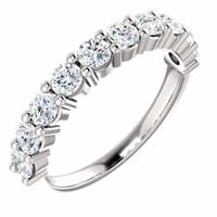 Item # SR128555100WE - 18K White Gold Anniversary Ring. 1.00CT