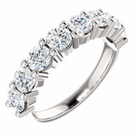 Item # SR128555150WE - 18K White Gold Anniversary Ring. 1.50CT