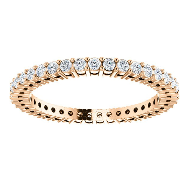 Item # SR128658050R View 3 - 14K Rose Gold Eternity Band