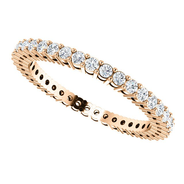Item # SR128658050R View 5 - 14K Rose Gold Eternity Band
