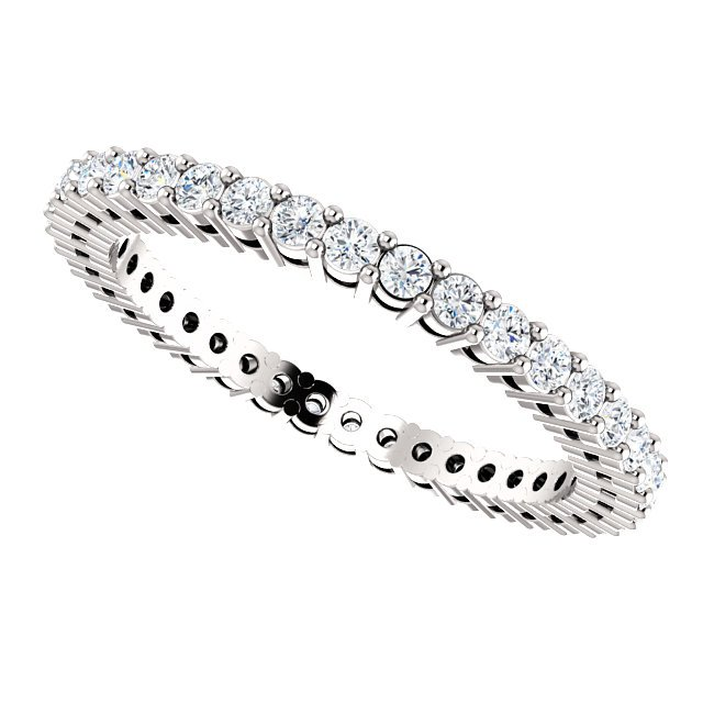 Item # SR128658050W View 5 - 14K Eternity Band.