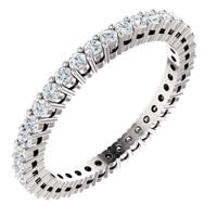 Item # SR128658050W - 14K Eternity Band.