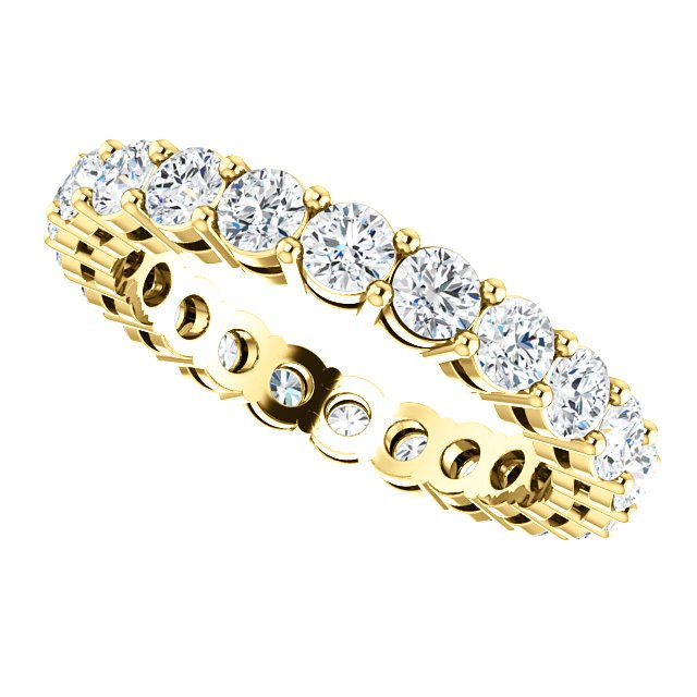 Item # SR128658175E View 5 - 18K Yellow Gold Eternity Band