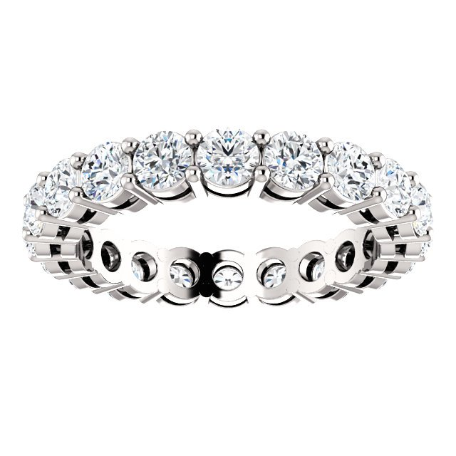Item # SR128658200PP View 3 - Platinum Eternity Band