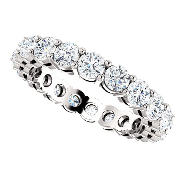 Item # SR128658200PP View 5 - Platinum Eternity Band