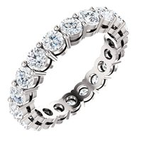 Item # SR128658200W - 14K White Gold Eternity Band 2.0CT TW