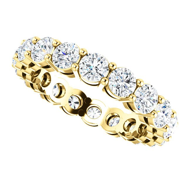 Item # SR128658275E View 5 - 18K Yellow Gold Diamond Eternity Band. 2.75CT TW