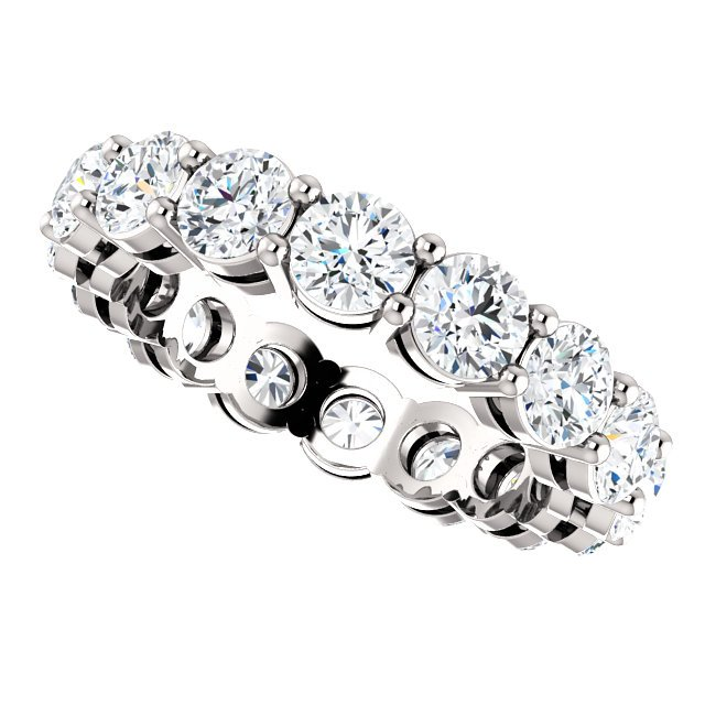 Item # SR128658275PP View 5 - Platinum Diamond Eternity Band. 2.75CT TW.