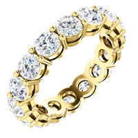 Item # SR128658350E - Yellow Gold Eternity Band