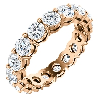 Item # SR128658350RE - 18K Rose Gold Eternity Band. 3.50CT TW