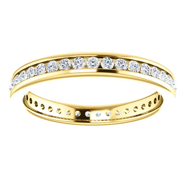 Item # SR128774050 View 3 - 14K Yellow Gold Eternity Band