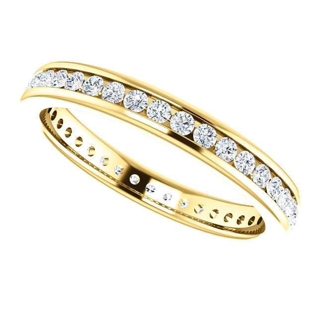Item # SR128774050 View 5 - 14K Yellow Gold Eternity Band