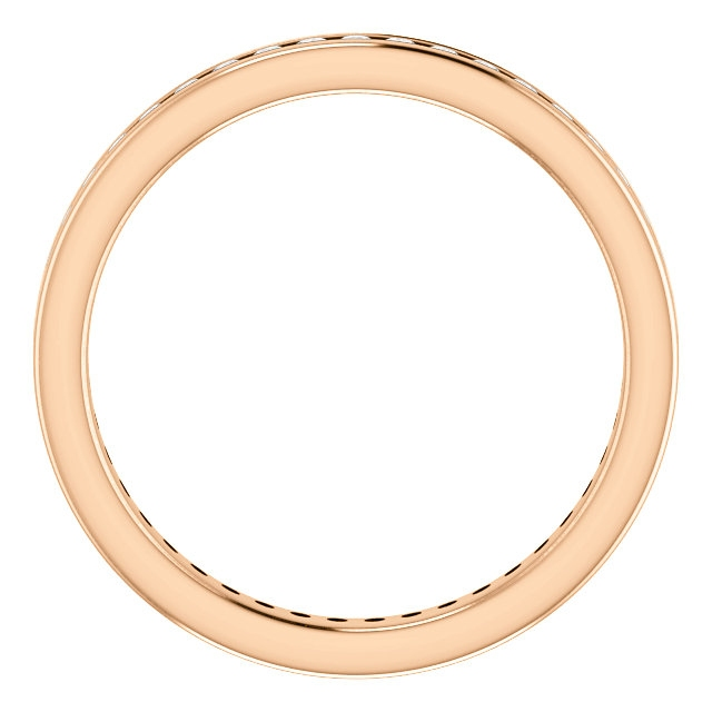 Item # SR128774050R View 2 - 14K Rose Gold Eternity Band
