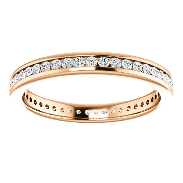 Item # SR128774050R View 3 - 14K Rose Gold Eternity Band