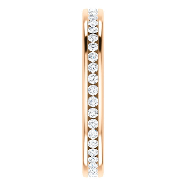 Item # SR128774050R View 4 - 14K Rose Gold Eternity Band