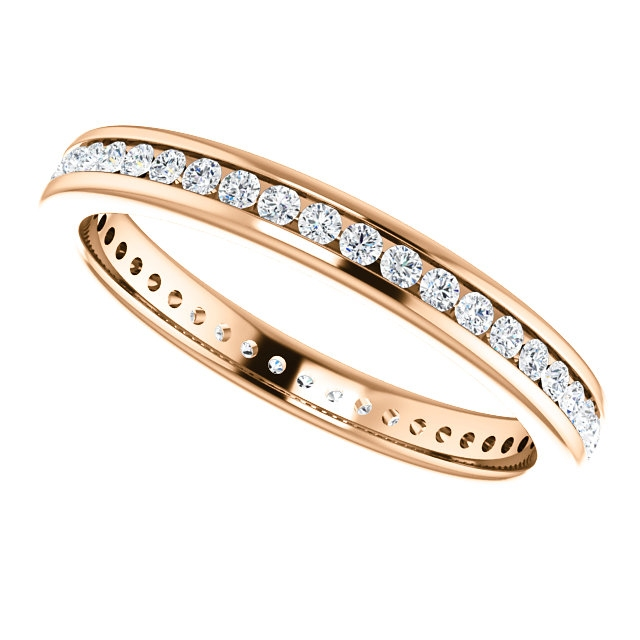 Item # SR128774050R View 5 - 14K Rose Gold Eternity Band