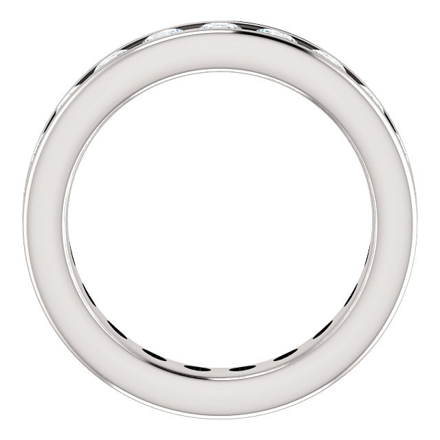 Item # SR128774210WE View 2 - White Gold Eternity Band