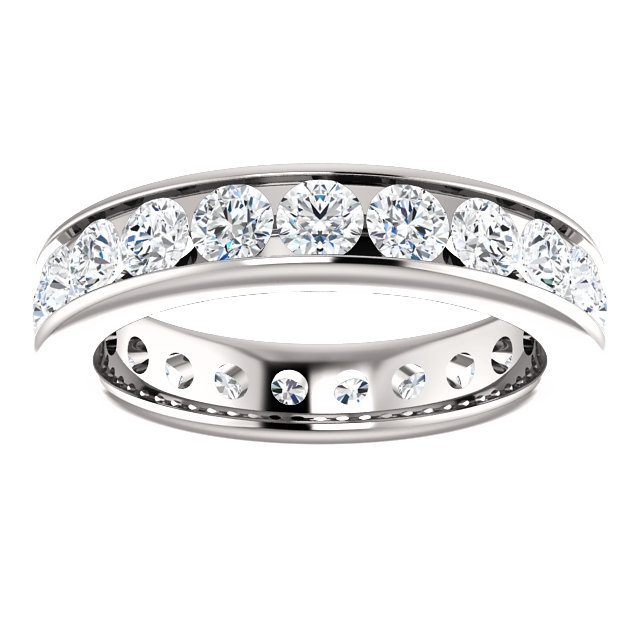 Item # SR128774210WE View 3 - White Gold Eternity Band