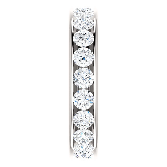 Item # SR128774210WE View 4 - White Gold Eternity Band