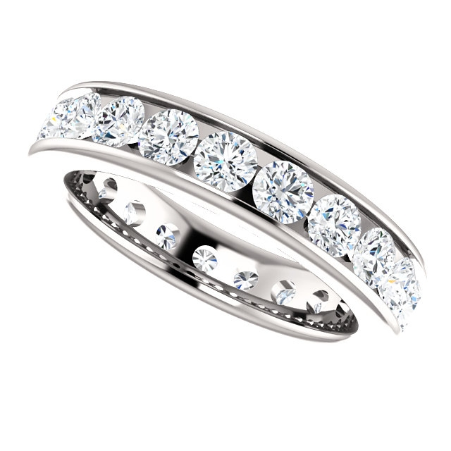 Item # SR128774210WE View 5 - White Gold Eternity Band
