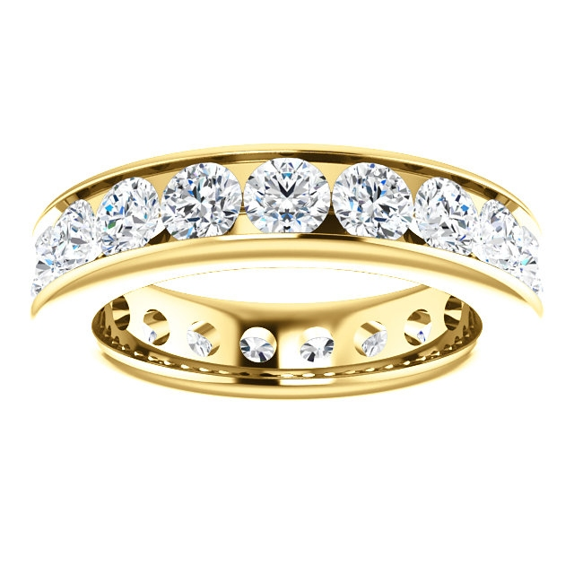 Item # SR128774285E View 3 - 18K yellow Gold Eternity Band