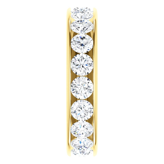 Item # SR128774285E View 4 - 18K yellow Gold Eternity Band