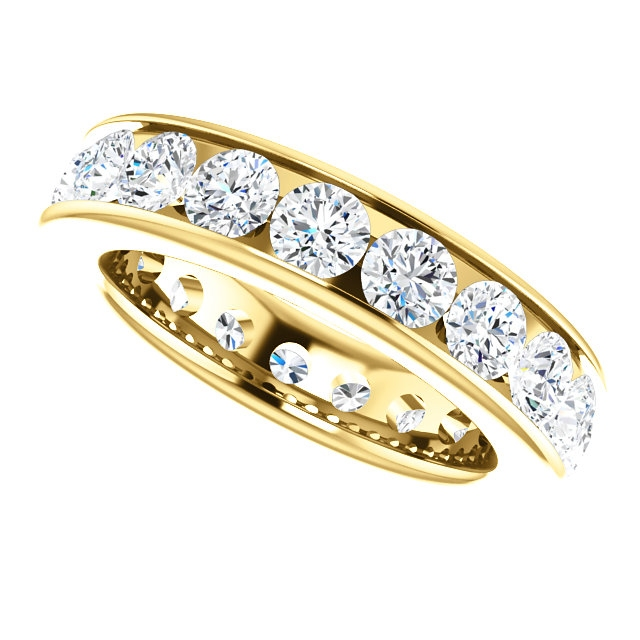 Item # SR128774285E View 5 - 18K yellow Gold Eternity Band