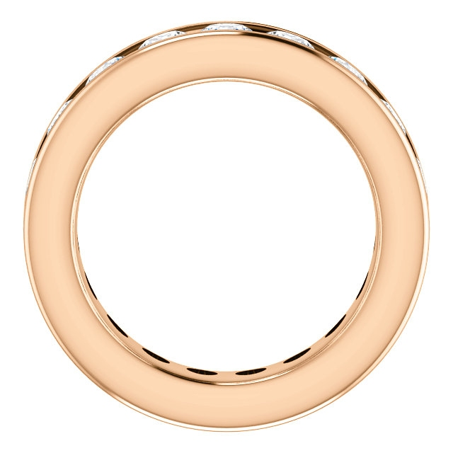 Item # SR128774285RE View 2 - 18K Rose Gold Eternity Band