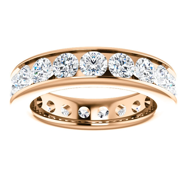 Item # SR128774285RE View 3 - 18K Rose Gold Eternity Band