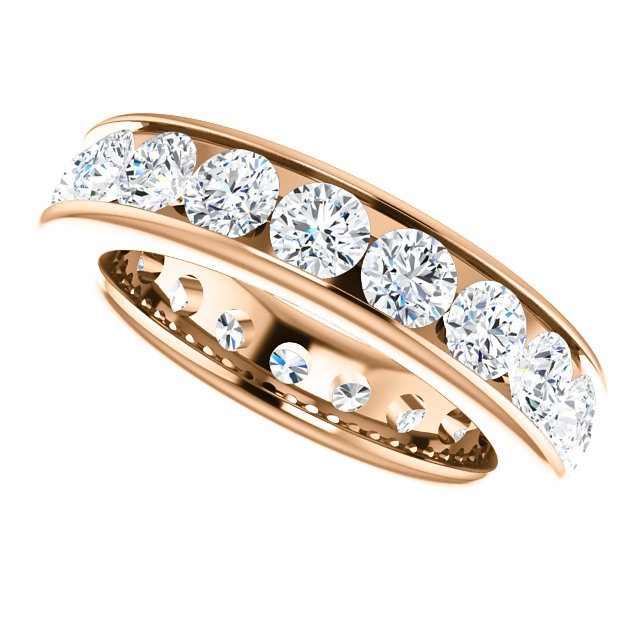 Item # SR128774285RE View 5 - 18K Rose Gold Eternity Band