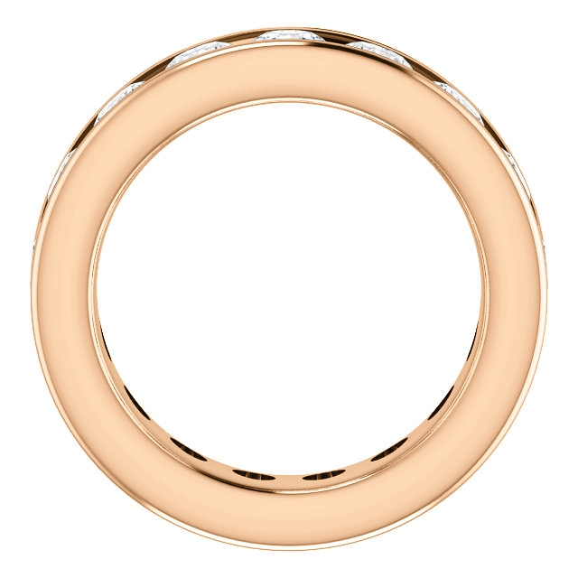 Item # SR128774350RE View 2 - 18K Rose Gold Eternity Band