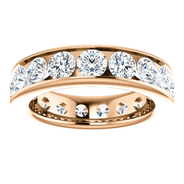 Item # SR128774350RE View 3 - 18K Rose Gold Eternity Band