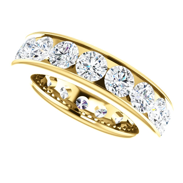 Item # SR128774350RE View 4 - 18K Rose Gold Eternity Band