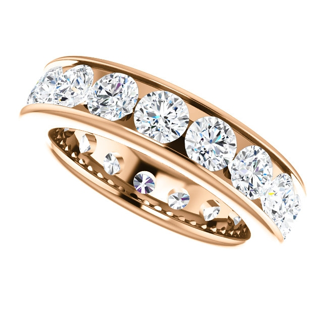 Item # SR128774350RE View 5 - 18K Rose Gold Eternity Band