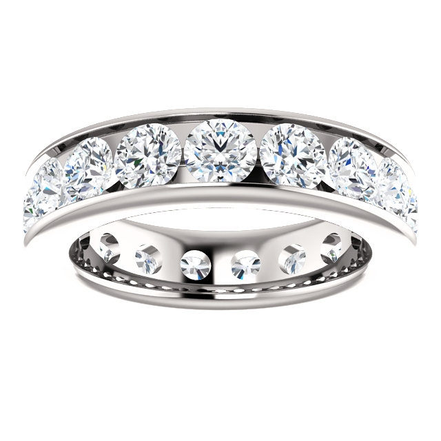 Item # SR128774350PP View 3 - Platinum Eternity Band