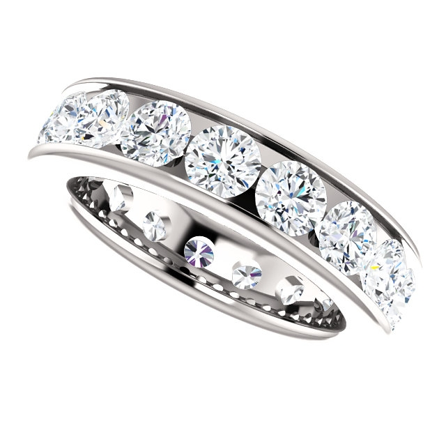 Item # SR128774350PP View 5 - Platinum Eternity Band