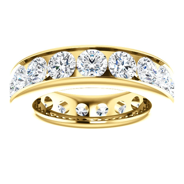 Item # SR128774450 View 3 - 14K Yellow Gold Eternity Band