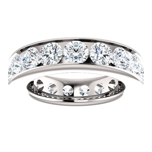 Item # SR128774450PP View 3 - Platinum Eternity Band. 4.5CT
