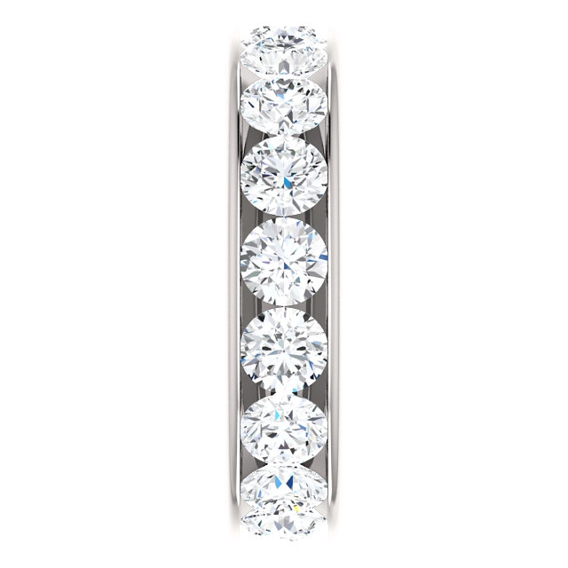 Item # SR128774450PP View 4 - Platinum Eternity Band. 4.5CT