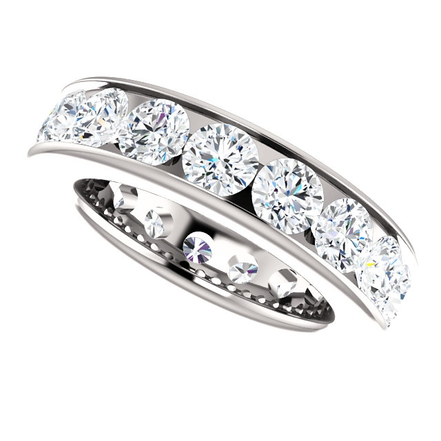 Item # SR128774450PP View 5 - Platinum Eternity Band. 4.5CT